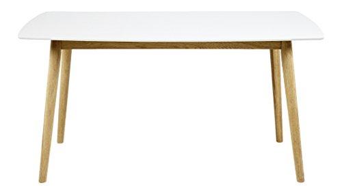 AC Design Furniture 60733 Esstisch Pernille, 150 x 80 cm, Tischplatte aus Holz lackiert, weiß