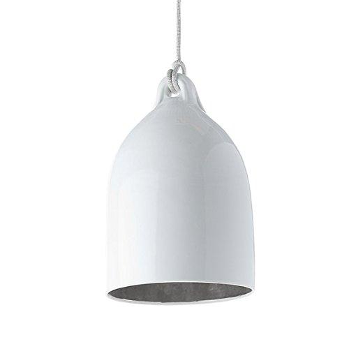 Bufferlamp Wieki Somers silber - pols potten, Designerlampe, Porzellanleuchte, Pendellampe, besondere Esstischlampe