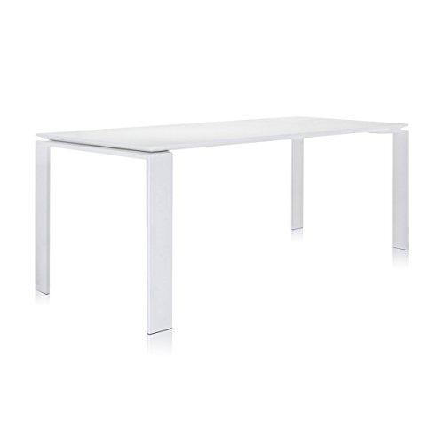 Kartell 452382 Tisch Four 190 x 72 x 79 cm Laminat lackiertes Stahlrohr, weiß