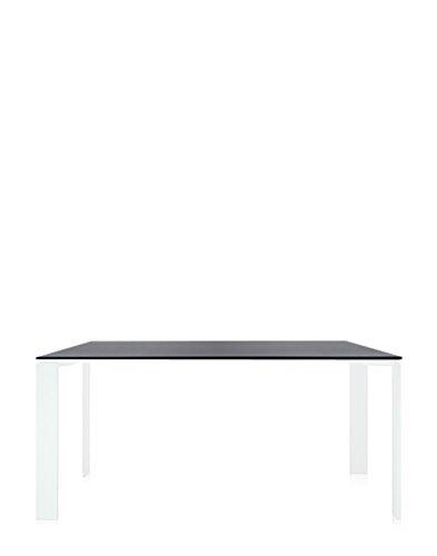 Kartell - Four Tisch - schwarz - weiß - rechteckig, 158 x 79 cm - Ferrucio Laviani - Design - Esstisch - Gartentisch - Outdoortisch - Terrassentisch