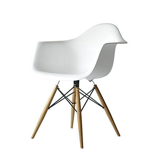 MOBISTYL - Satz von 2 Stühlen Inspiriert Charles Eames Eiffel DAW - Weiß