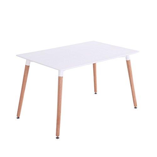 Mdf Inspiration Retro Esstisch 120 x 80 weiss Tisch rechteckig