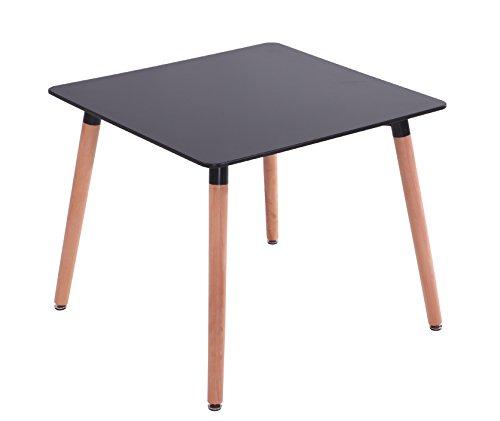 Mdf Inspiration Retro Esstisch 80 x 80 Cm Quadratisch Schwarz Tisch