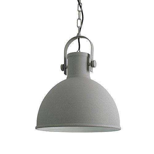 Retro Pendelleuchte Industrie Design mattes grau