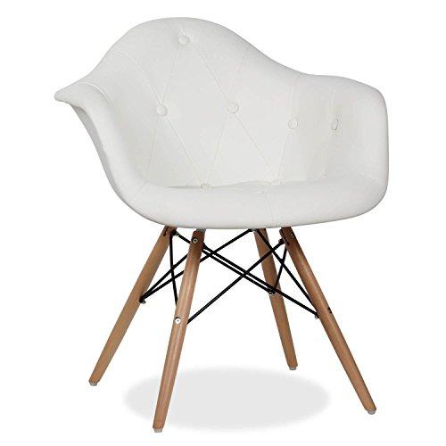 Stuhl DIMERO - PU - Bezug - Unica Inspiración DAW de Charles & Ray Eames