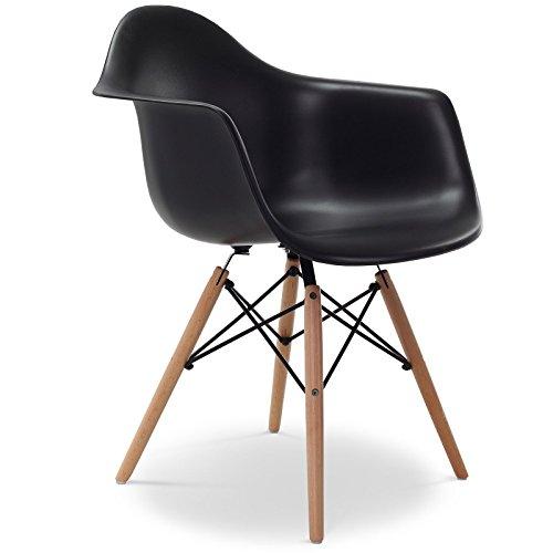 Stuhl Eames DAW Stil Schwarz