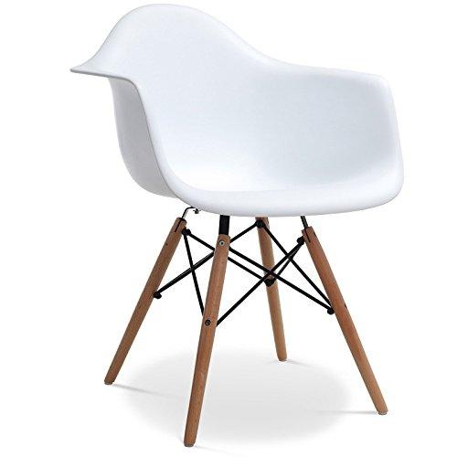 Stuhl Eames DAW Stil Weiß
