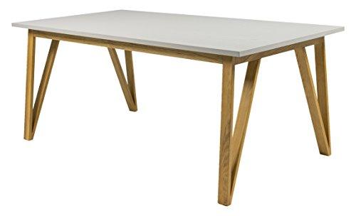 Tenzo 6961-912 CROSS - Designer Esstisch, 75 x 185 x 95 cm, grau gebeizt