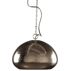 Zuiver 5300019 Pendant Lamp Hammered, oval, Messing