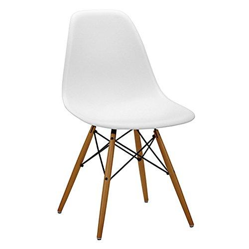 mmilo® Charles Ray Eames Eiffel inspiriert Weiß DSW Seite Lounge Wohnzimmer Büro Stuhl, weiß, Weiß