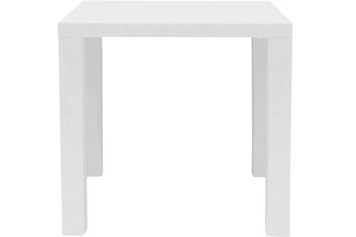 AC Design Furniture H000008294 Esstisch Zidan, circa 80 x 76 x 80 cm, weiß hochglanz
