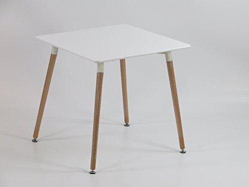 Inspiration Retro Tisch MDF 70x70 in Weiß