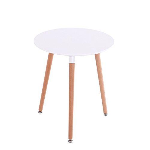 Inspiration Retro Tisch MDF rund 80 cm Durchmesser in Weiß