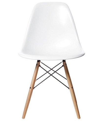 Charles & Ray inspiriert Eiffel DSW Retro Design Wood Style Stuhl für Büro Lounge Küche–weiß (1)