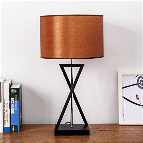 Schlafzimmer Eisen Tischleuchte Nordic kreative moderne Tuch Schreibtisch Lampe einfache Studie Schreibtisch Lampe American Style Hotelzimmer Dekoration Lampen ( Color : Flax )