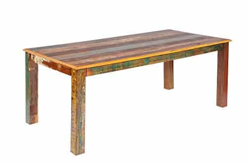 Tisch Esstisch 'Allegro' Altholz massiv bunt Holz vintage