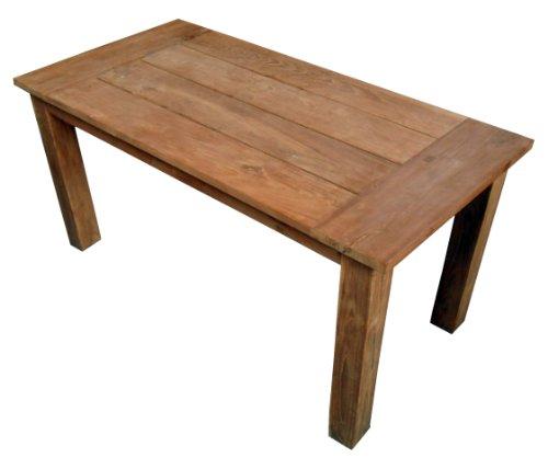Ambientehome Teakholz Tisch Esstisch retro recycelt Grenada, braun, ca. 160 x 80 cm