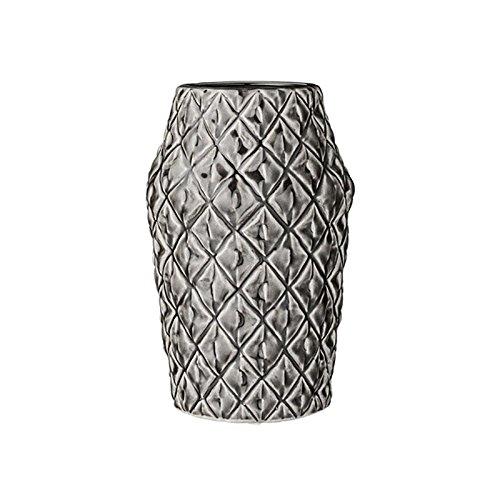 Bloomingville Brillant Vase, grau Ø16,5xH26 cm