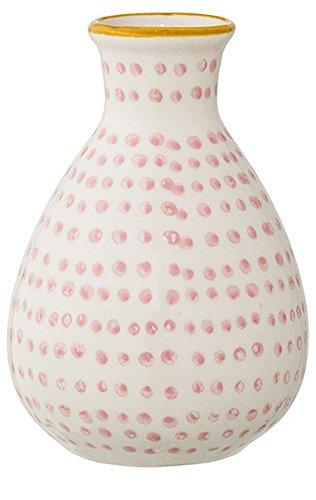 Bloomingville Vase Susie 6,5 x 11 cm rosa gepunktet