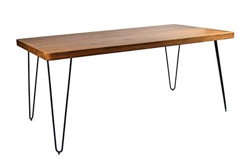 Esstisch Massivholz Retro Authentic Mid Century Design 175 x 90 Easy Haarnadel Beine Schreibtisch
