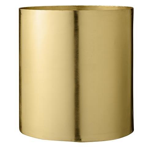 Flowerpot, Brass Finish Ø22xH23 cm