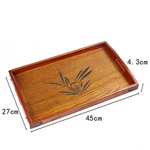 Lozse Tablett, rechteckig Fach, Japanisch, Massivholz, Platte, Hotel