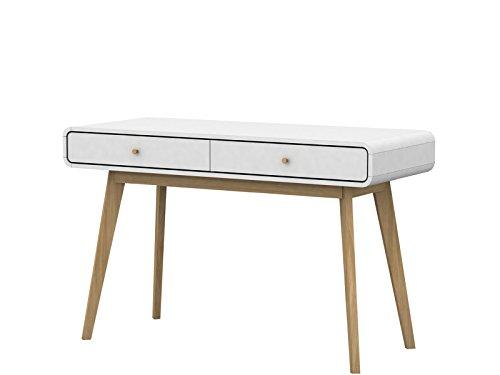 Schreibtisch CARMEN Weiß und Natur