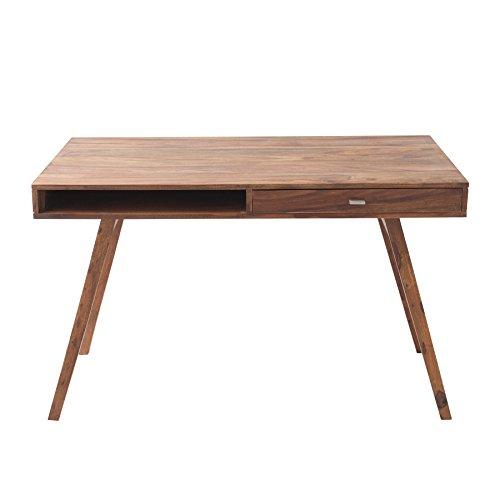 Schreibtisch RETRO 120 cm Sheesham stone finish Tisch Holztisch Holz Schublade