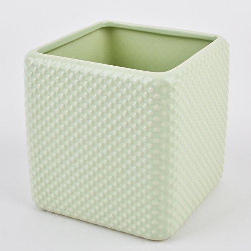 Topf Vertigo Dots Design Porzellan mint Gefäß Vase (13x13x13cm)