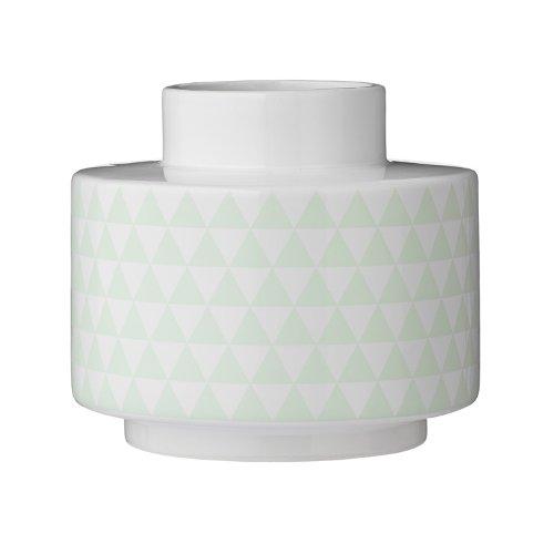 Vase, White/Mint Ceramic d18xH16 cm