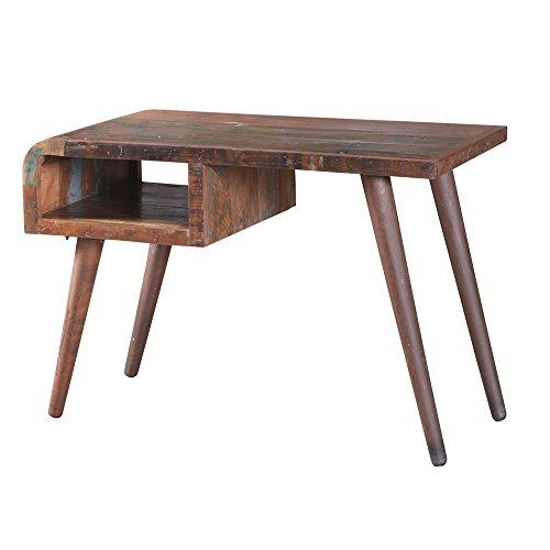 """Vintage Schreibtisch """"Pablo"""" aus recycling Holz - Arbeitstisch - Bürotisch - Computertisch - Retro Design - Used Look - mit Ablagefach - Umweltfreundlich - Jeder Tisch ein Unikat - robust und Handgemacht"""