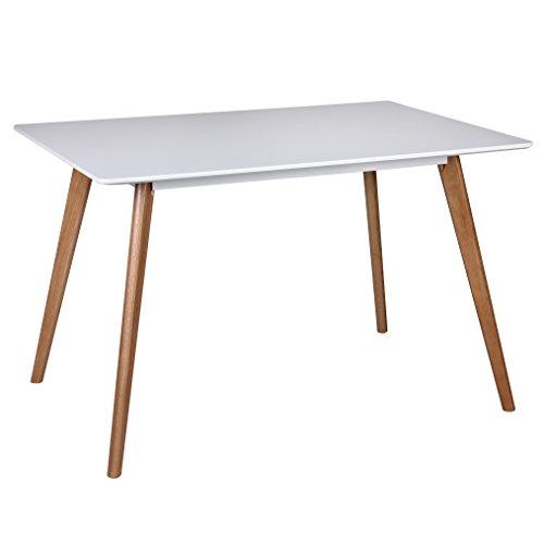 Wohnling WL1.705 Esszimmertisch , Holz, weiß, 120 x 80 x 75 cm