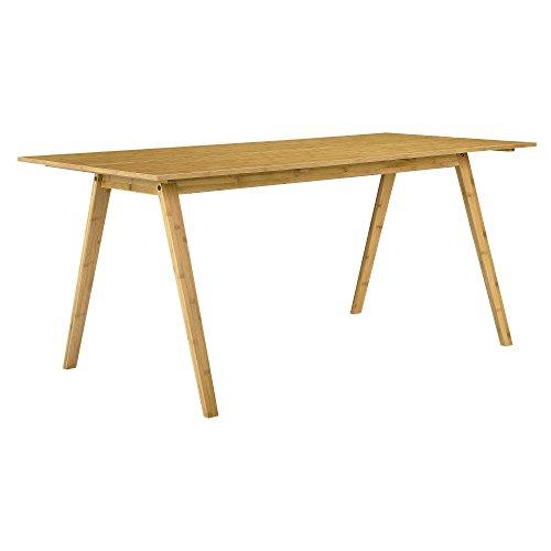 [en.casa] Esstisch Bambus 180x80cm Esszimmer Küche Design
