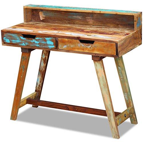 vidaXL Büro Schreibtisch Computertisch Arbeitstisch Schubladen Massivholz Vintage Antik