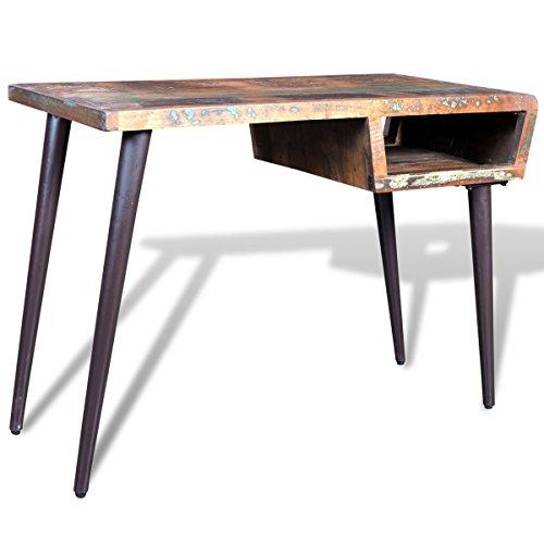 vidaXL Schreibtisch Bürotisch Wandtisch Konsole Massivholz Teak Antik Vintage Retro