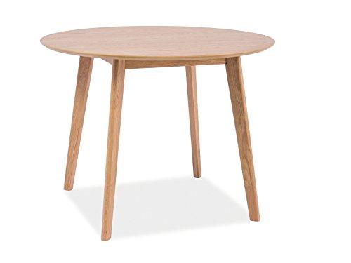 Esstisch Esszimmertisch Holztisch Echtholztisch MILO II in Eiche Natur 100 cm Durchmesser Rund Skandinavisches Design