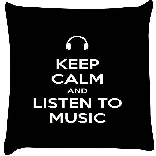 Keep Calm und Hören Musik Home Decor Werfen Sofa Auto Kissenbezug Kissen Fall 25,4x 25,4cm