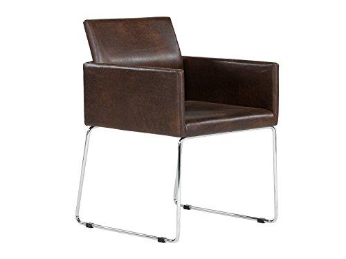Massivum Sway HA 2x Stuhl, Stoff, vintage braun, 61 x 55 x 80 cm