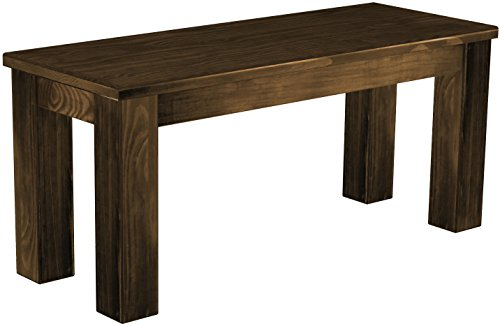 Brasilmöbel Sitzbank 'Rio Classico' 100 cm, Pinie Massivholz, Farbton Eiche antik