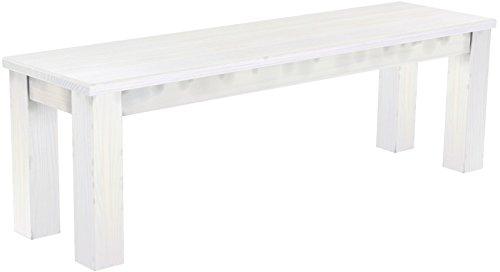 Brasilmöbel Sitzbank 'Rio Classico' 140 cm, Pinie Massivholz, Farbton Weiß