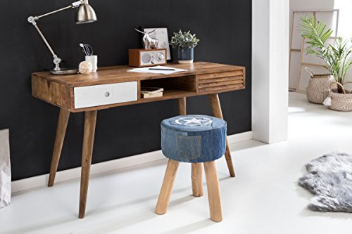 Wohnling Schreibtisch Repa mit 2 Schubladen Repa, 120 x 60 x 75 cm, Holz, weiß