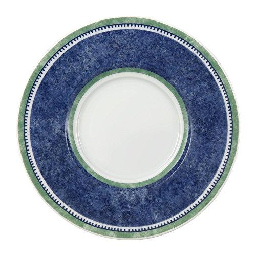 Villeroy & Boch Switch 3 Kaffee-Untertasse, aus ansprechendem Hartporzellan, 15 cm, Porzellan, Blau