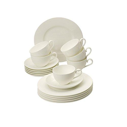 Villeroy & Boch Royal Basic Set / Hochwertiges Bone Porzellangeschirr für die Basisausstattung/ geeignet für bis zu 6 Personen / 1 x Set (30-teilig)