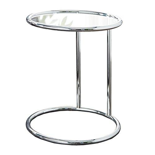Design Beistelltisch Original Art Deco Couchtisch Glastisch Tisch mit Glasplatte