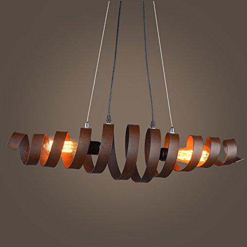 GYP LOFT Retro Eisen Kronleuchter, Restaurant Studio Lampe Café Bar Zähler Korridor Hängeleuchte Loft Industrie Stil E27 Doppelte Engineering Lampe 70 * 20CM ( größe : 70*20CM )