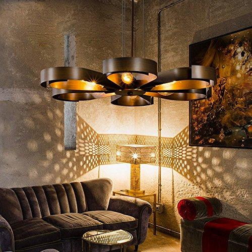 Kreative Industrie Stil Retro Petal Form Eisen Pendelleuchte Persönlichkeit Design Elegante Hängelampe Passend Wohnzimmer Restaurant Hote Loft bar Cafe Korridor Hängeleuchte (Kupfer)
