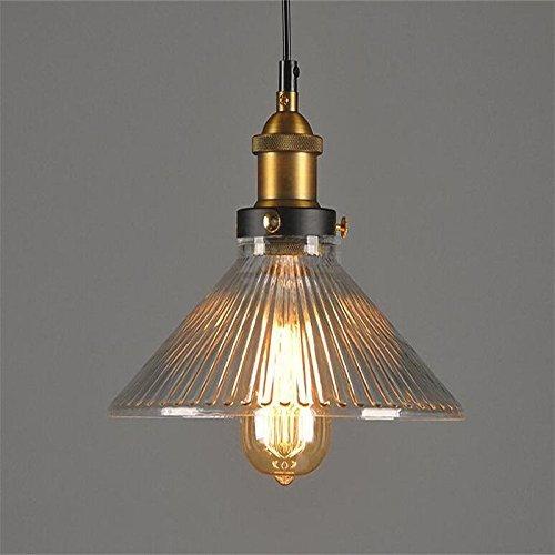 Lightsjoy Industrial Pendelleuchten Hängeleuchte Glas Vintage Industire Hängelampe Pendellampe Deckenlampe Hängende Lampe für Küche Esszimmer Wohnzimmer Schlazimmer Esstisch Bar Hotel Cafe usw.