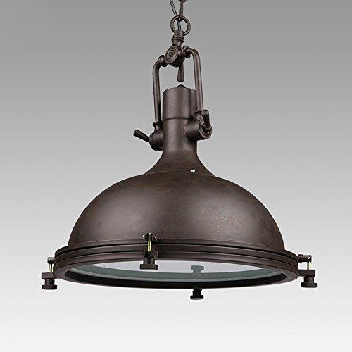 Louvra Industrielle Vintage Pendelleuchte Loft Retro Hängelampe LED Kronleuchter aus Eisen + Glas 1*E27 für Restaurant Keller Café Wohnung Küche Bar (keine Lichtquelle enthalten)