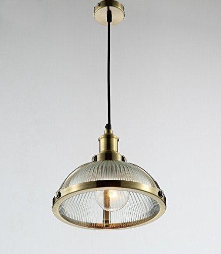 Maxmer Hängelampe Vintage Pendelleuchte Glas Loft Kronleuchter Industrie Höheverstellbar E27 Glühbirne für Wohnzimmer, küche, Restaurant, Cafe, Bar usw.(Silber/Bronze)