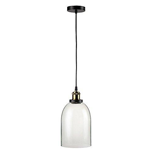 Maxmer Industrie Retro Hängelampe Vintage Loft Deckenleuchten Led Pendellampe Glas Shade Anhänger für Küche Loft Schlafzimmer Office Home Dekorative(4*Style) (s5)